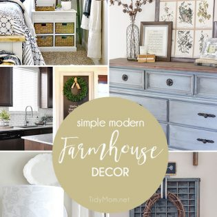 Simple Modern Farmhouse Decor at TidyMom.net