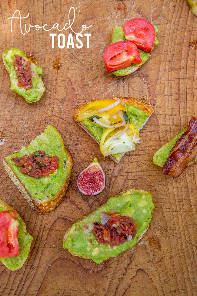 Mother's Day Brunch Meal Plan recipes, printables and decor at TidyMom.net - Avocado Toast