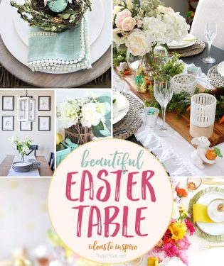 Beautiful Easter Table Ideas to inspire you at TidyMom.net
