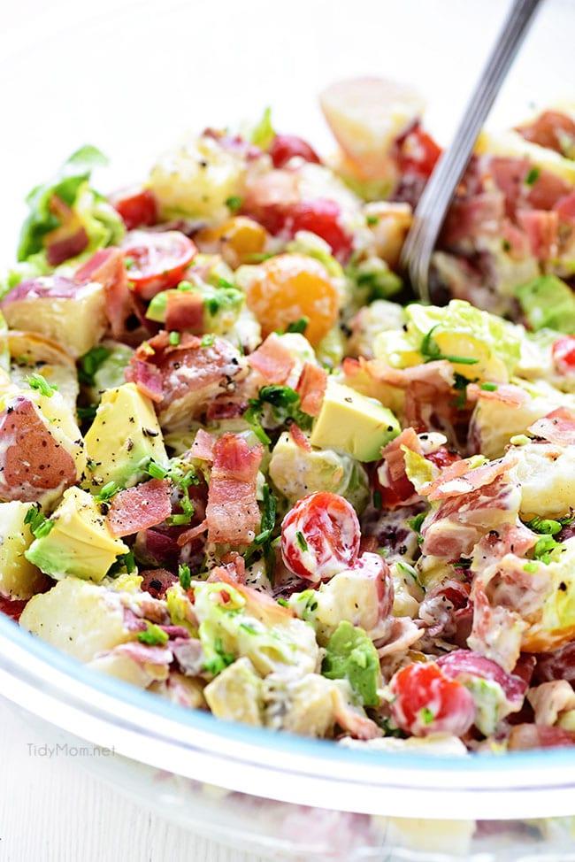 BLT Red Potato Salad with Avocado   TidyMom