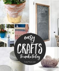 Easy Crafts to Make Today! get all of the DIY tutorials at TidyMom.net