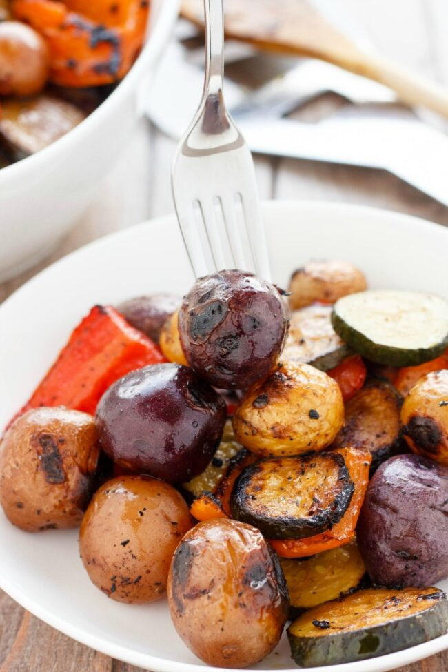 BBQ POTATOES & VEGETABLE MEDLEY from The Cookie Writer