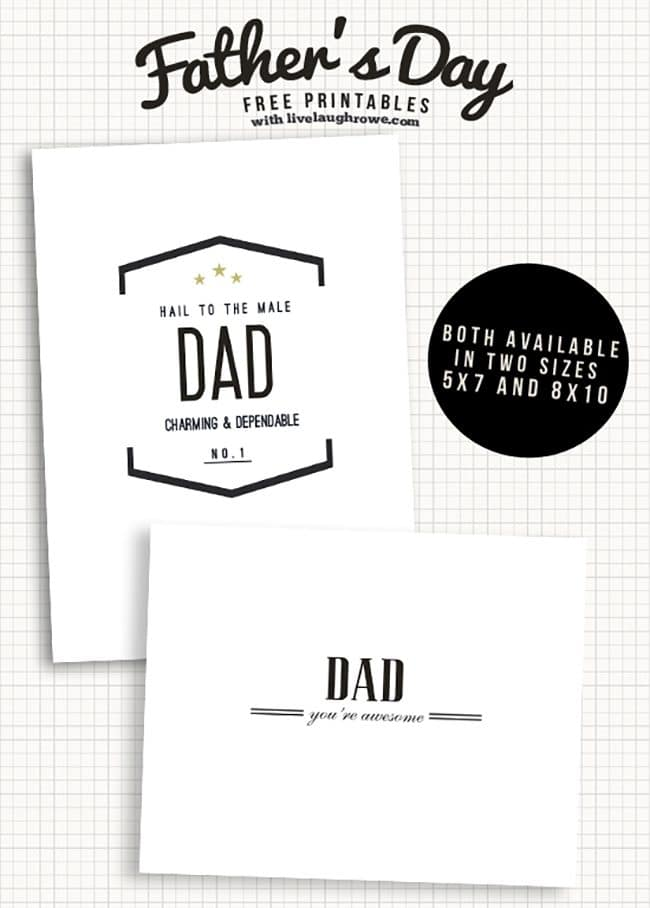 Summer Barbecue Meal Plan for Father's Day! Tons of great ideas to celebrate Dad this Father's Day, and any of these recipes would be great for a backyard barbecue this summer! Get recipes, printables and party decor at TidyMom.net - Free Father's Day Printable Cards