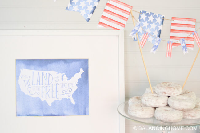 PATRIOTIC PRINTABLE PACK from Balancing Home