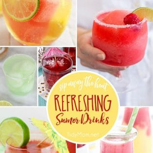 Sip away the heat with these Refreshing Summer Drinks. Get all the recipes at TidyMom.net