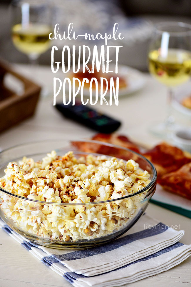 Gourmet Popcorn Pizza Movie Night Tidymom 174