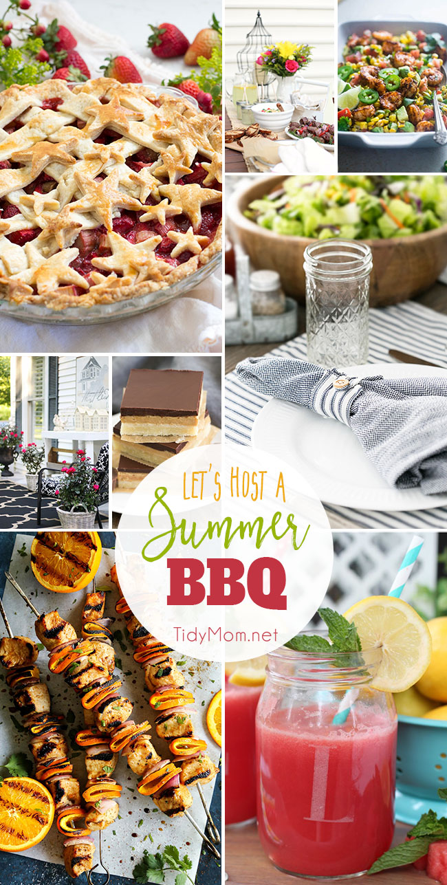 Summer is here, and that means time to fire up the grill and move the party outside!! Whether you're hanging out with family or hosting a big crowd, last week's linky party was full of everything you need for hosting a Summer BBQ. Get tips on how to clean outdoor furniture to party ideas and of course, favorite summer BBQ recipes for a memorable backyard bash. Find all the details at TidyMom.net