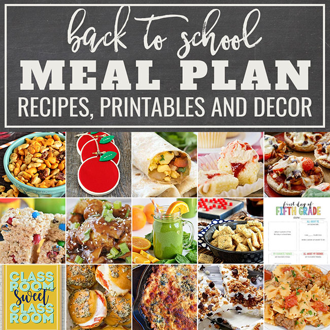 Looking for easy back to school ideas? Try these easy family-friendly recipes, creative lunches, snack ideas and quick breakfasts that will ease back-to-school stress for you and your kids. There is even a few printables and teacher gift idea to get the kids in the mood! This Back To School Meal Plan will check off all the boxes on your to-do list. Back to School Meal Plan at TidyMom.net