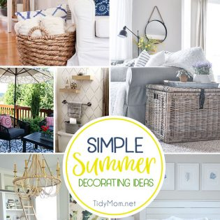 Simple Summer Decorating Ideas for your home.