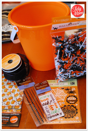 Halloween bucket supplies