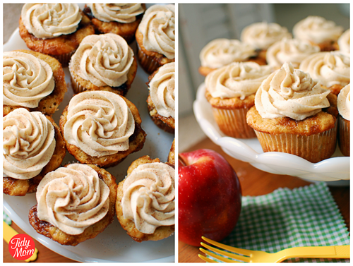 Apple Caramel Cupcakes with Cinnamon Buttercream