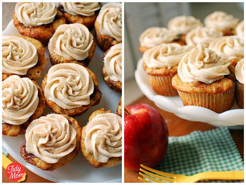Apple Caramel Cupcakes with Cinnamon Buttercream