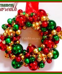 Ornament wreath at TidyMom.net