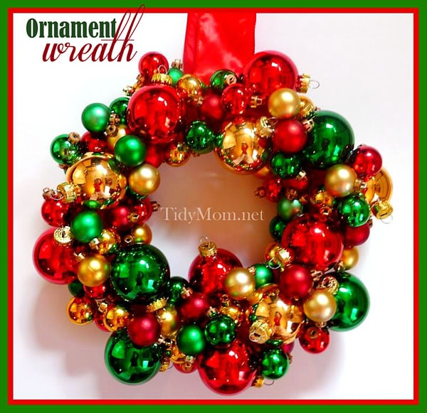 ornament wreath at tidymomnet - Christmas Ball Wreath