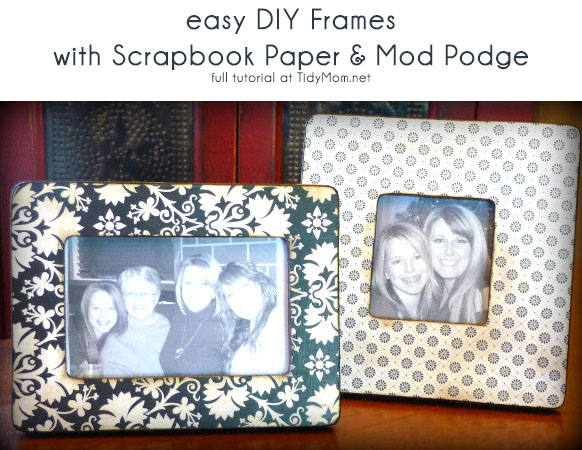 Mod Podge Frame tutorial