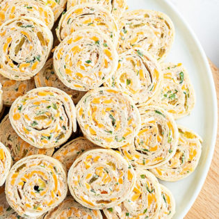 tortilla rollups on a plate