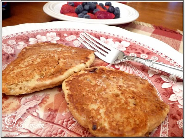low fat high fiber pancakes at TidyMom.net