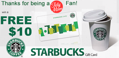 Win $10 Starbucks Gift Card from TidyMom.net