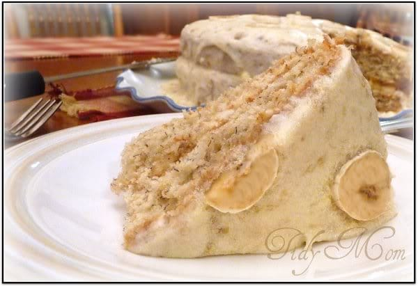 Banana Cake At TidyMom