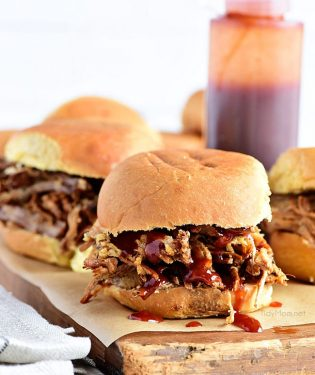 This Amazing Pulled Pork recipe ismade in a slow cook roaster for a tender, juicy pulled pork sandwich that is always a big hit! Get this pulled pork recipe at TidyMom.net