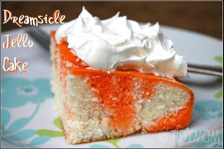 Orange Dreamsicle Cake recipe at TidyMom.net