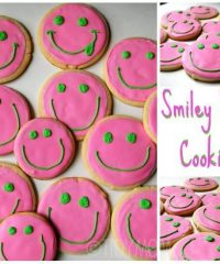 smiley face decorated cookies at Tidymom.net