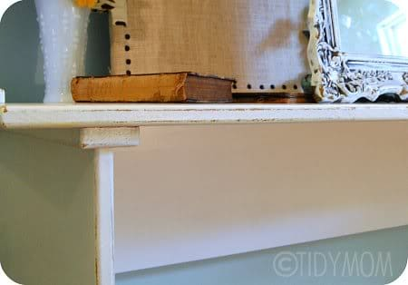 distressed  painted desk