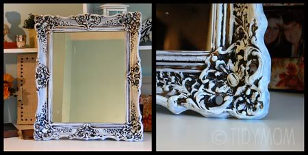 dry brush mirror frame makeover