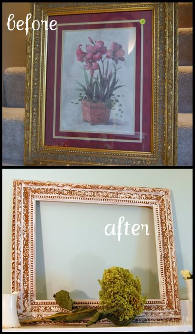 picture frame makeover at TidyMom.net