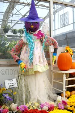 Flora pumpkin lady at Hillerman's Nursery
