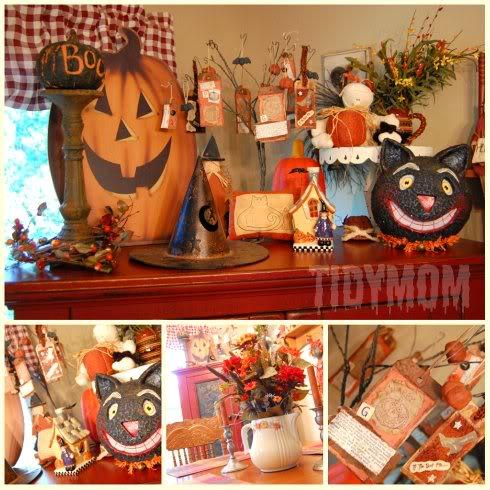 Halloween decor at TidyMom.net