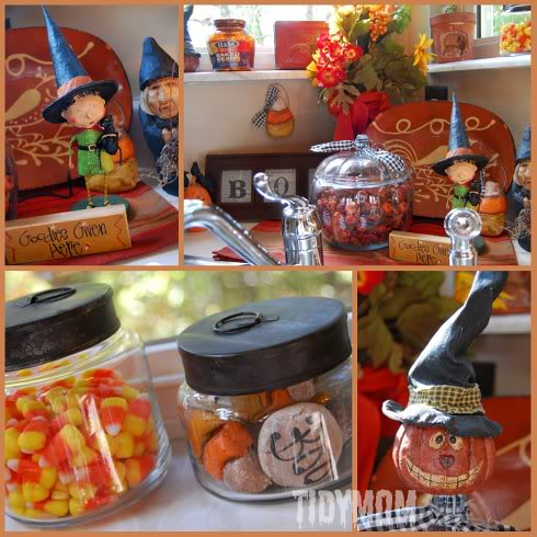 Halloween decor at TidyMom.net