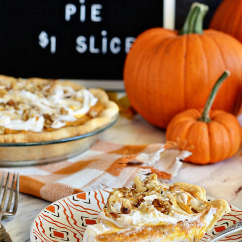LAYERED WALNUT PUMPKIN PIE has been a 30+ year tradition in our family for Thanksgiving. A recipe that was handed down to me by my grandpa. This EASY recipe not your ordinary pumpkin pie, it's a light and fluffy, scrumptious, cold creamy pumpkin pie! A perfect alternative to regular pumpkin pie for Thanksgiving or Christmas dessert. PRINT the recipe at Tidymom.net