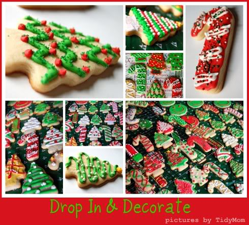 decorated Christmas cookies at TidyMom.net
