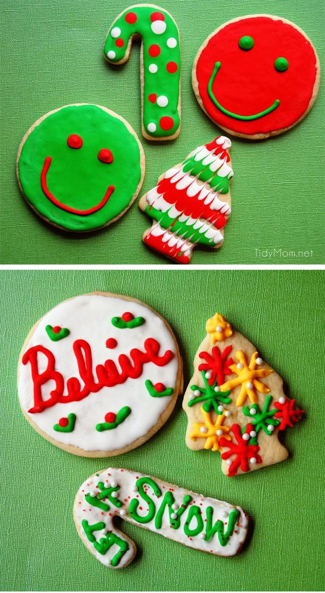 this butter cookie is the best recipe for cutout cookies and decorating with royal icing - How To Decorate Christmas Cookies With Royal Icing