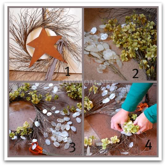how to decorate a wreath at TidyMom.net