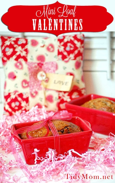 Mini Loaf Valentines at TidyMom.net