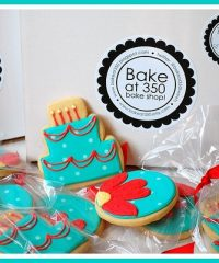 Birthday cookies from Bake at 350 at TidyMom.net