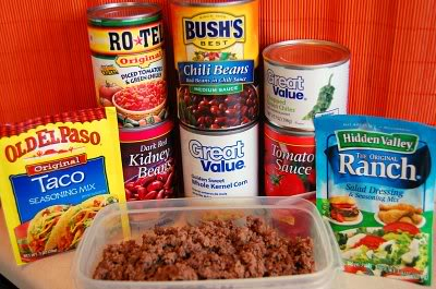 slow cooker taco soup ingredients image