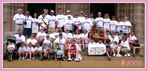 2009 Komen Race Brennan Nickles team