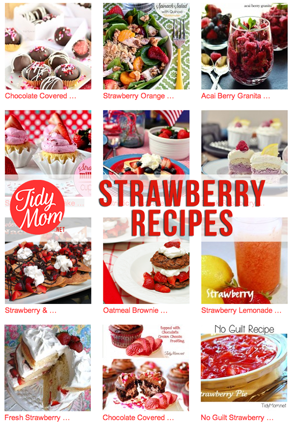 Strawberry Recipes at TidyMom.net
