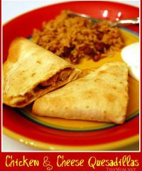 chicken cheese quesadillas