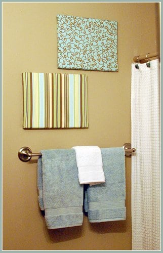 Easy fabric covered canvas wall art Simple wall art