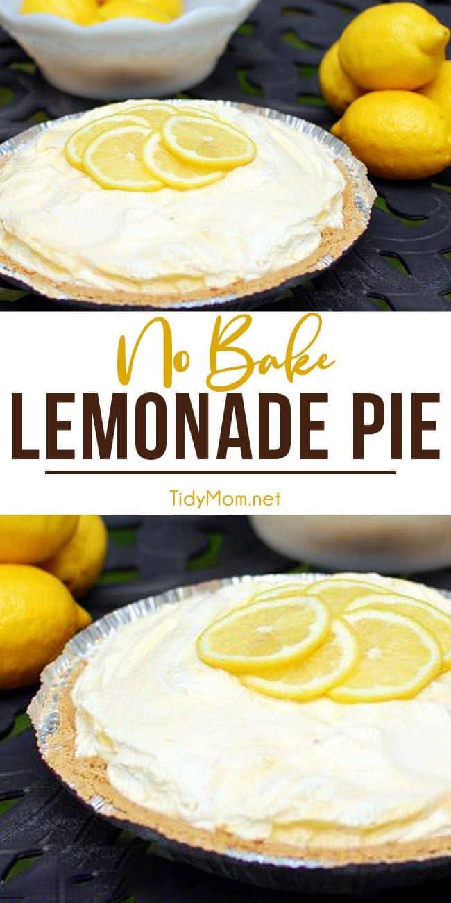 lemonade pie with lemon slices on top