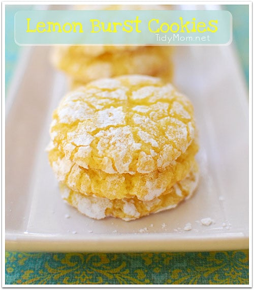 Lemon Burst cookies - TidyMom
