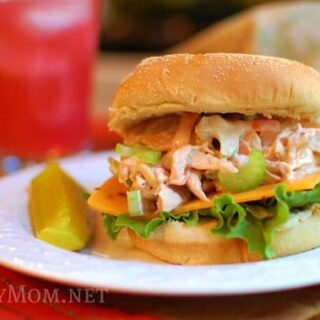 Rotisserie Pulled Chicken Salad Sandwiches