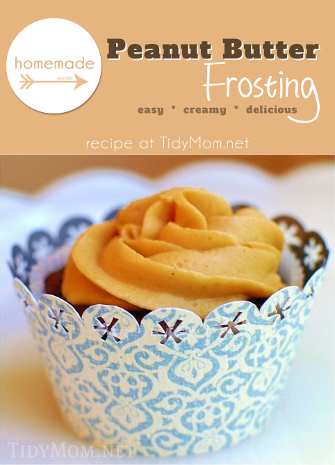 Homemade Peanut Butter Frosting recipe at TidyMom.net
