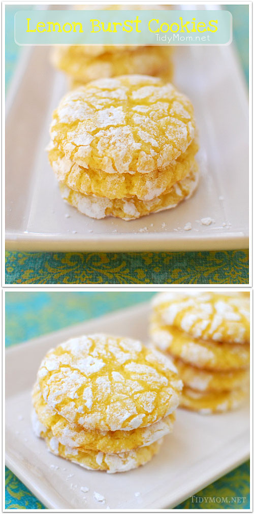 Lemon Burst Cookies Cake Mix