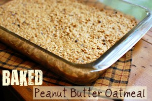 Baked Peanut Butter Oatmeal pan
