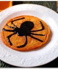Spider Pumpkin Pancakes
